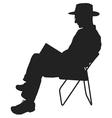 Man Reading vector image vector image