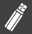usb flash drive solid icon device and hardware vector image