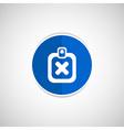 X Mark Icon flat survey reject checklist vector image