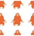 Seamless Pattern of a Monkey chimpanzee vector image