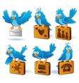 social media network bluebird vector image