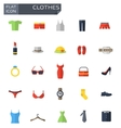 flat clothes icons set vector image