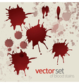 Splattered blood stains set 3 vector image vector image