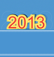 2013 new year design background vector image