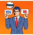 Undecided Businessman Making Decision vector image