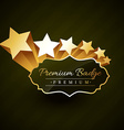 beautiful premium golden badge design with stars vector image