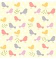 birds pattern retro vector image