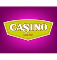 Casino icon Banner with casino logo badges vector image