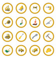 construction cartoon icon circle vector image