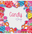 delicious sweet candy background design vector image