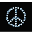 Diamond Peace Symbol vector image