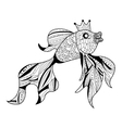 Goldfish Coloring book for adults vector image