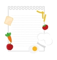note page with food vector image
