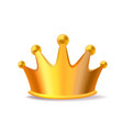 realistic of shiny golden metal king crown vector image