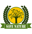 Save Nature vector image