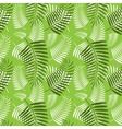 Seamless palm tree leaves pattern vector image