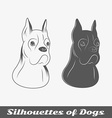 Silhouettes of purebred dogs vector image