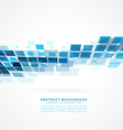 blue perspective square mosaic background vector image