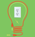 Cord Bulb vector image vector image