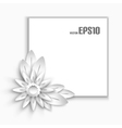 Paper flower vector image vector image