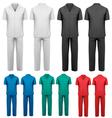 Sets of medicaldoctor clothes vector image vector image