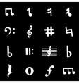 white notes icon set vector image