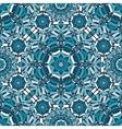 blue floral kaleidoscope pattern vector image