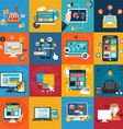 Abstract collection of colorful flat business vector image