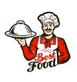 restaurant diner logo dish meal food or vector image