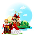 King and queen at the castle vector image vector image