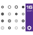 black gears icons set vector image