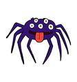 comic cartoon gross halloween spider vector image