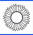 doodle sunflower vector image