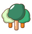 forest icon cartoon style vector image