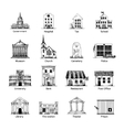 Government building icons set vector image