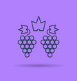 isolated linear icon of two clusters of grapes vector image