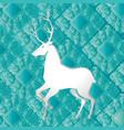 reindeer mandala boho style vector image