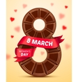 Womens Day 8 March poster vector image