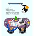 Top view business presentation banner vector image