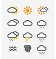 Forecast weather icons set vector image