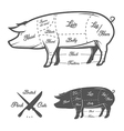 British UK cuts of pork vector image vector image