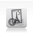paris icon vector image vector image