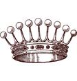 Royalty icon vector image