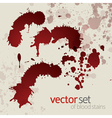 Splattered blood stains set 2 vector image vector image