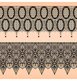 Abstract seamless fabric black lace pattern vector image