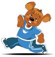 Bear athlete vector image