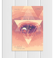 brochure a5 or a4 format abstract triangles vector image