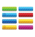 Colorful blank premium web buttons vector image