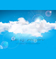 easter holiday with cloud on blue sky vector image