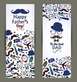 Fathers day set of banners vector image